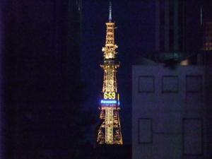 夜の札幌TV塔。