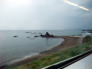 信越本線沿いの♪日本海~。