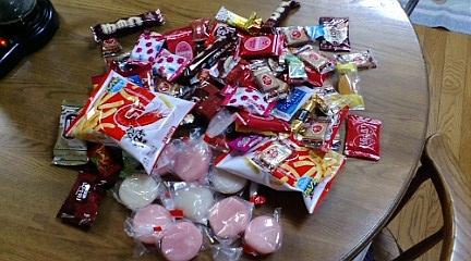 菓子撒き戦利品