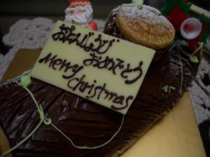 クリスマスでなく誕生ケーキ