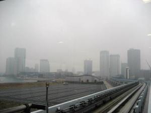 霧のお台場