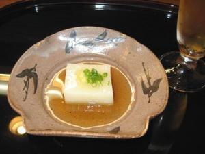 新玉葱豆腐。