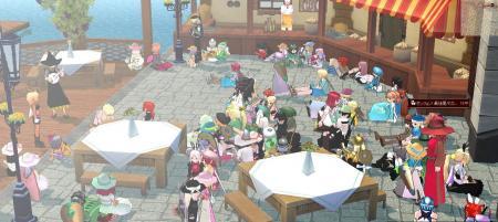 レストランはパーティ会場状態