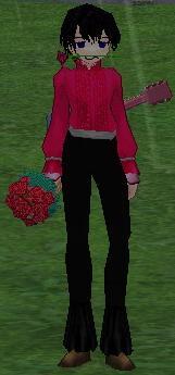フッ。お嬢さん、キミに似合うのは涙ではなくこの花束だよ。フフッ