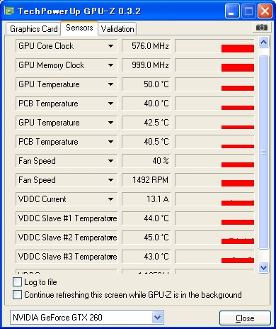 PC関係 3月19日 GTX260の温度