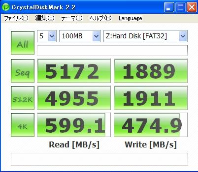 PC関係 2009年8月2日 RAMディスクの読み書き速度