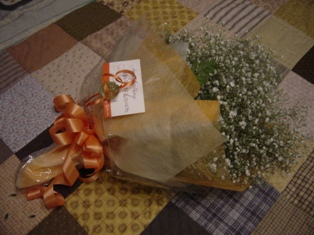 かすみ草の花束♪