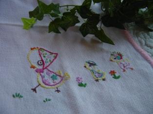 小3の時のはじめての刺繍♪
