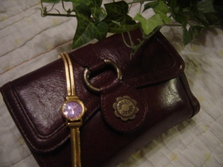 ANNA SUIのお財布と時計♪