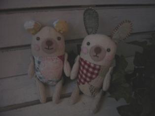 シロクマちゃんとウサギちゃん♪