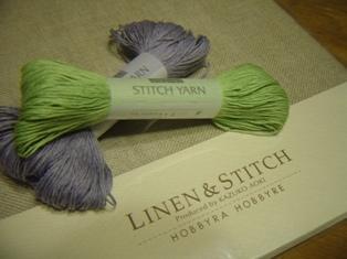 刺繍用リネンと刺し子糸。。。