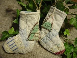 アンティークキルトのブーツ♪