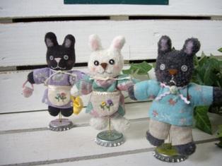 3色ぷちウサギ♪