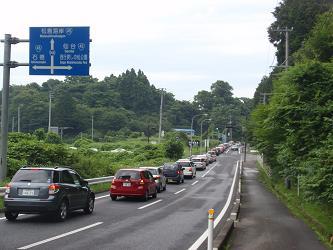 松島への道(大渋滞)