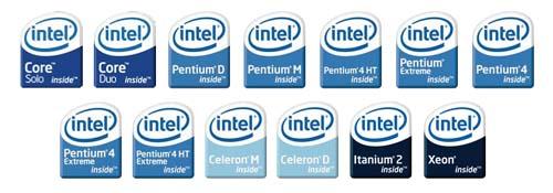 Intel New Logos
