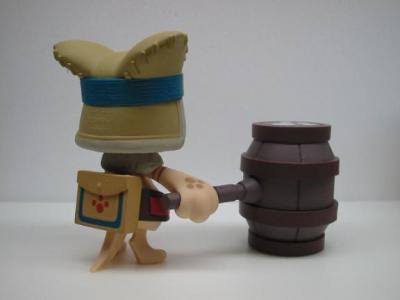 アイルー(マフモフスーツ)&大タルハンマー