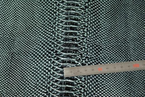 パイソン型押し青銅ブラック革