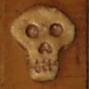 木彫りのガイコツ