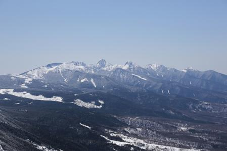 蓼科山 八ヶ岳を望む