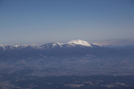 蓼科山 浅間山を望む