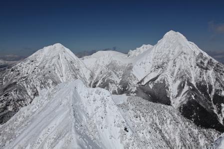 権現頂上から赤岳