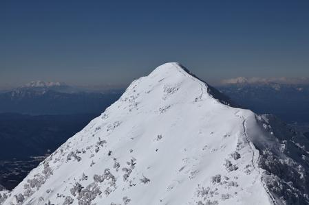 権現頂上からギボシ