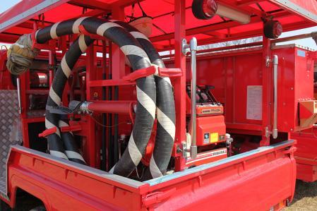 消防団の消防車装備