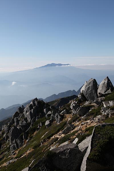 空木岳頂上から御嶽