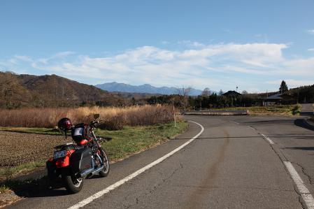 開田高原より中央アルプスを眺める