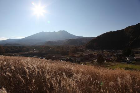 開田高原より御嶽を望む