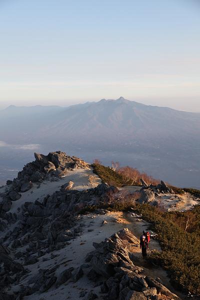 鳳凰三山 観音岳から八ヶ岳を望む