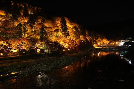 香嵐渓 ライトアップその2