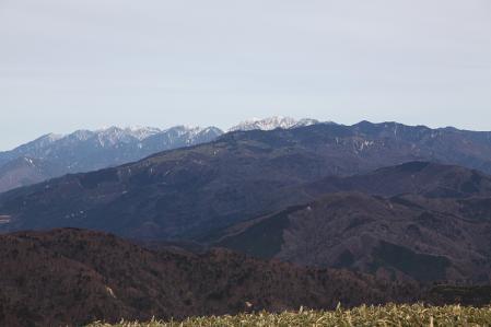 富士見台より中央アルプスを望む。