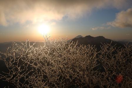 富士と樹氷の輝き