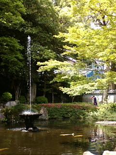 諏訪神社噴水