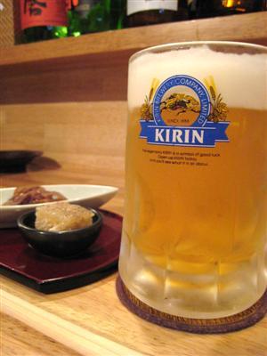 ビールとおとおし