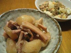 イカわた煮と麻婆豆腐