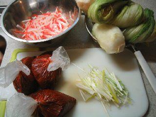 白菜1と1/4個で3kg