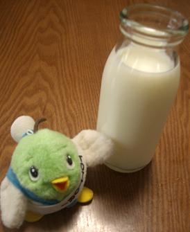 牛乳1杯分をうすめるには・・・