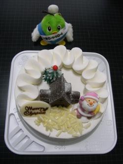 おいしそう~!!ケーキは食べるけど、チキンは食べないよ。