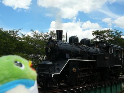 なつかしい蒸気機関車だね