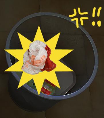 ゴミ箱強調のコピー