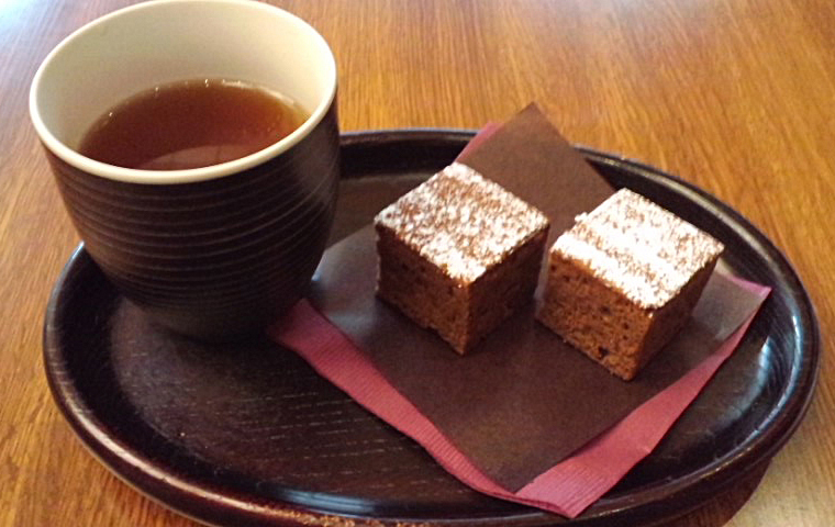 ほうじ茶&ガトーショコラ