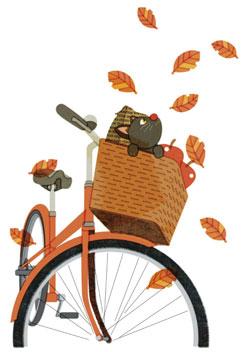 自転車 猫