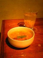 スープとドリンク。