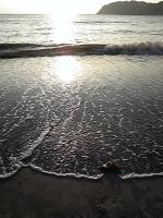 夕日と海と。