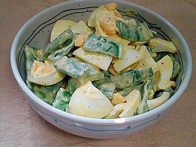 モロッコいんげん茹で卵サラダ