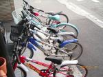 会館前の自転車