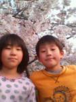 桜の下で・・
