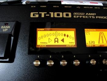 GT-100 液晶画面